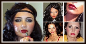Bianca Red Lips Collage